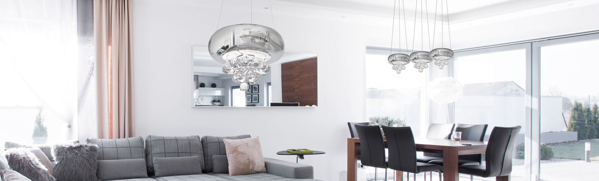 Contemporary lights in living room