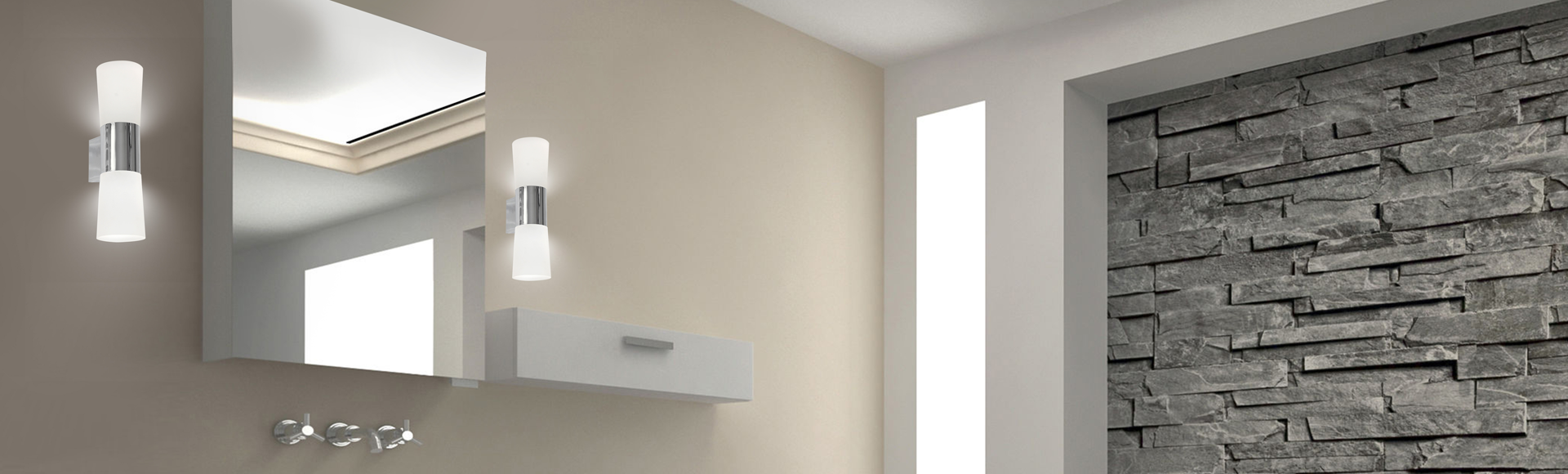 Modern bathroom wall lights